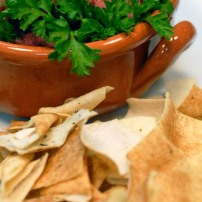 Hummus et Pita chips